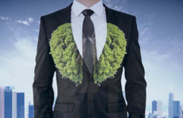 Мужчина в костюме. Легкие представлены травянистой растительностью