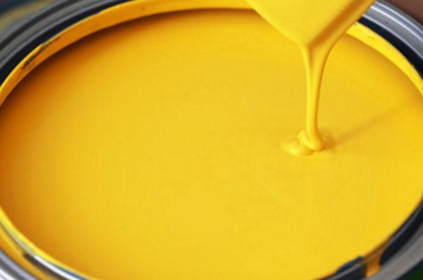 Металлическая банка с желтой краской