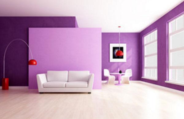 Комната с фиолетовыми стенами